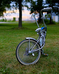 Low Rider (DHaug) Tags: bicycle chopper chrome lowrider parked 8x10 toronto whitewall tires xpro2 fujifilm xf35mmf14r explore explored