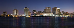 Panorama: New Orleans Skyline at Night (reggiewinfield) Tags: america architecture boat building business cbd city cityscape commerce corporate dock downtown dusk evening financial goods harbor harbour import industrial industry international landscape logistics louisiana maritime metropolis metropolitan mississippi new neworleans night office orleans panorama port river scenic sea ship shipping sky skyline skyscraper sunset tall terminal trade transport transportation travel urban usa vessel view water waterfront waterside world