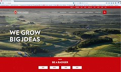 Web banner aerial (NetAgra) Tags: aeriallandscape aerial website webbanner university homepage digialcontent wisconsin universityofwisconsin