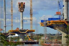 Mersey Gateway Project (Six Lane Cable Stayed Bridge) 2nd October 2016 (Cassini2008) Tags: merseygatewayproject merseylink bridgeconstruction construction rivermersey runcorn widnes form traveller rubricaengineering rubricabridges rubrica cablestayedroadbridge