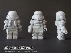 Asteroid Kit (SHAPEWAYS BLACKOGRAPHIC) Tags: meteroid retrogaming snes samus samusaran nes lego custom minifigure