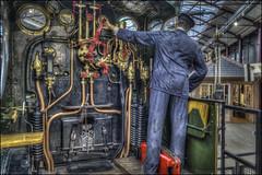 Swindon Steam Museum 4 (Darwinsgift) Tags: swindon steam museum great western railway train locomotive footplate voigtlander 28mm color skopar f28 sl 2 sl2 nikon d810 hdr photomatix indoor interior