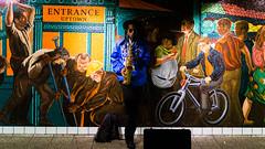 42th/Times Square subway (Boris Peters Arnhem) Tags: new york music sax saxophone musician colors color subway metro undergrund tube black jazz street urban