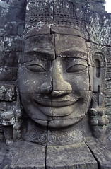Angkor Thom (Sacred Earth Journeys) Tags: cambodia cambodian kampuchea asia southeastasia ancient anthropology archaeology architecture art arthistory civilization culture history indochina khmer khmerempire sculpture unesco worldheritagesite angkorthom siemreap smiling face tower bayon kh