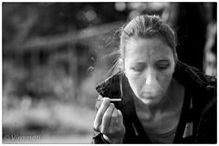 Smoke gets in your eyes (Viramati) Tags: smoking smokegetsinyoureyes fuji