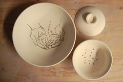 Miki Palchick in the Studio (Women's Studio Workshop) Tags: ceramics handmadebowls handmade pottery pots
