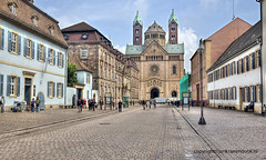 "Speyer main street and Cathedral • <a style=""font-size:0.8em;"" href=""http://www.flickr.com/photos/45090765@N05/15201730693/"" target=""_blank"">View on Flickr</a>"
