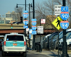 Do you know the way to I-90/94? (vision63) Tags: road city chicago sign illinois big highway windy junction freeway interstate expressway shoulders fullerton dsc0105
