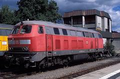 225 023  Tübingen  30.08.14 (w. + h. brutzer) Tags: analog train germany deutschland nikon eisenbahn railway zug trains locomotive 225 tübingen lokomotive diesellok efw eisenbahnen dieselloks webru