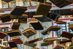 Suspense Thrillers (petercooper131) Tags: london market books string hanging suspended leadenhall