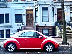 Snow on a little Red Bug (dannydalypix) Tags: vw uploaded:by=flickrmobile colorvibefilter flickriosapp:filter=colorvibe