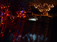snowy Xmas lights (2) (Ange 29) Tags: xmas canada reflection window lights king olympus blinds township omd em1 zd 1435mm