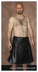 Vegan Black Leather (kiltedbros) Tags: vegan kilt handmade kilts crueltyfree kilted regimental freeballing cargokilt kiltedbros