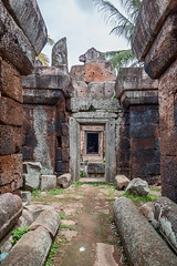 Phnom Chiso (Electricity Mule) Tags: door building stone architecture temple hall ancient ruins cambodia interior corridor hallway maze phnompenh angkor wat labyrinth takeo phnomchisor phnomchiso watphnomchiso watphnomchisor