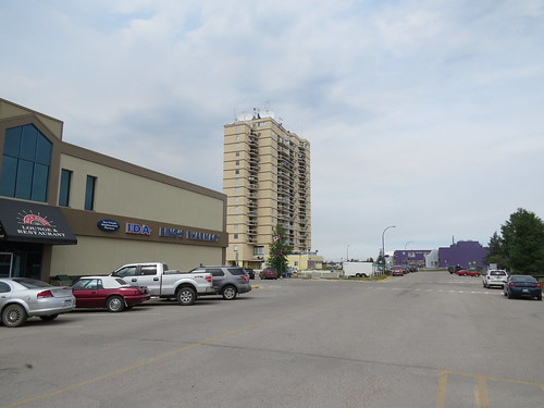 Looking north on Capital Drive in Hay River, NWT