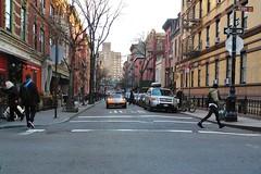 orange racer (omoo) Tags: newyorkcity car traffic westvillage streetscene sportscar greenwichvillage racer orangesportscar dscn9689 west4thandperrystreets orangeracer lookingtowardssheridansquare