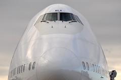 Jumbo jet (A380spotter) Tags: mugshot windshield windscreen windows flightdeck cockpit nose radome boeing 747 400 gbnlk toflytoserve emblem achievement crest coatofarms internationalconsolidatedairlinesgroupsa iag britishairways baw ba britishairwaysengineering westbase bealinebase maintenancebase london heathrow egll lhr