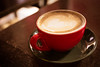 Waiting for her (Kantr) Tags: red milan love coffee bar canon waiting italia bokeh milano mug caffè capucino naviglio 6d quentinraith