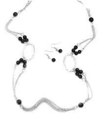 5th Avenue Black Necklace P2110-5