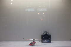 Show Window /  (marumeganechan) Tags: show window radio toy helicopter fujifilm controlled x100     x100t