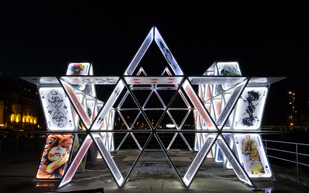 Amsterdam Light Festival, HOUSE OF CARDS