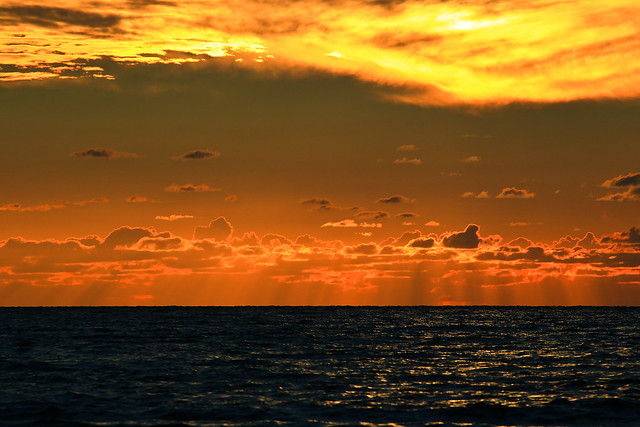 sunset on Ako beach - Israel