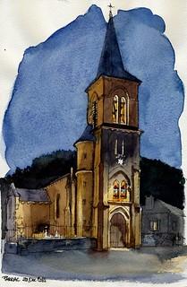 Parnac, église à Noël