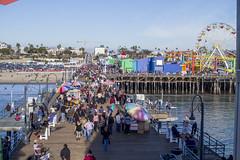 California '15 - Day 3 (Harsha') Tags: ocean california santa street blue sea birds wheel cali harbor michael pier pacific seagull gull ferris jackson monica performers
