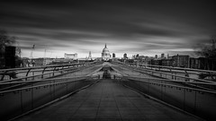 The Path (www.paulshearsphotography.com) Tags: longexposure bridge bw monochrome canon iso100 mono blackwhite cathedral path stpauls le milleniumbridge theriverthames stpaulscathedral 16mm riverthames f8 10stop 100seconds themilleniumbridge eos5dmarkiii extremelongexposure triggertrap formatthitech prostopirnd ef1635mmf4lisusm triggertrapmobileapp