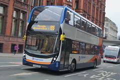 Stagecoach AD Enviro 400MMC 10411 SL64HZU - Manchester (dwb transport photos) Tags: bus manchester alexander dennis stagecoach 10411 enviro decker sl64hzu 400mmc