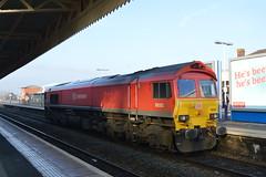 59202 DB Schenker, Taunton 23/01/15 (CF Rail Photography) Tags: diesel locomotive dbs taunton class59 dbschenker 59202
