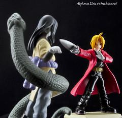 "Alphonse vs Orochimaru (hero-haven) Tags: naruto alphonse orochimaru ""animefigures"" ""fullmetalalchemist"""