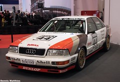 Audi V8 Race Car (Schwanzus_Longus) Tags: field car race sedan germany four se essen gun parking gray meadow machine lot headlights class turbo german 200 dome vehicle motor middle standard audi dtm plain v8 motorshow quattro