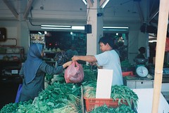 (khailina) Tags: people film vegetables 35mm singapore ishootfilm human heartland tampines wetmarket filmphotography exploresingapore