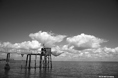 Oyster house (Red Cathedral [FB theRealRedCathedral ]) Tags: ocean sea summer blackandwhite france beach island blackwhite fishing noiretblanc zwartwit atlantic oyster plage peche ré noirblanc iledere huitres redcathedral charentemaritime aztektv autoremovedfrom1to5faves
