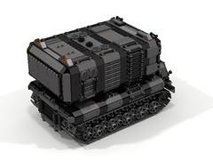 """Widow"" Mobile Launch Missile Platform (-Lee Barton-) Tags: lego military widow ldd missilelauncher heavytank internalview legotank"