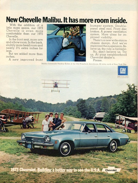chevrolet malibu advertisement april 16 newsweek 1973