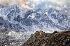 Walking Tall (craigkass) Tags: travel nepal mountains trekking hiking himalaya kanchenjunga