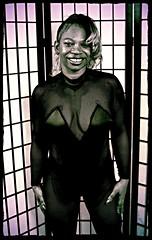 Sapphire Philadelphia Studio Exotic Black Outfit Indiglow Aug 1994 007 (photographer695) Tags: bw black philadelphia naughty studio outfit models exotic 1994 aug sapphire