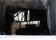 Busted (JimmyEastside) Tags: winter silhouette wisconsin barn shadows decay farm madisonwi wi oldbuilding 201502