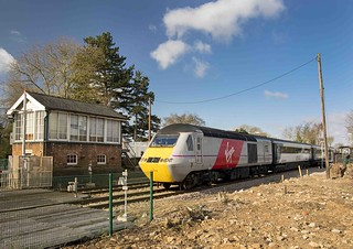 43272 and 43317 at Metheringham on 01 Mar 15.