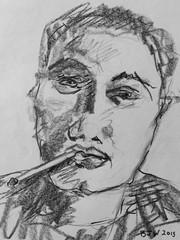 Lena Adams JKPP version one (Catch the Noise) Tags: paper stick graphite ipad catchthenoise barbarajayewilson jkpp juliakaysportraitparty