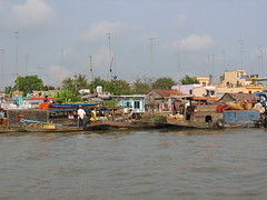 Markets on the Mekong River in Cai Be
