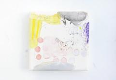 Minonaruki (2009) oil on canvas, charcoal, pencil 260x260x45mm (mayakonakamura) Tags: mayako nakamura gallerymirume chofu tokyo oil paper soloshow themoonlight italy spring moon semiabstract abstract painting pink