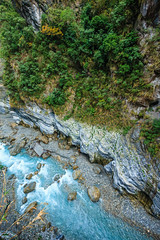 Taiwan-121116-479 (Kelly Cheng) Tags: travel blue color colour green tourism nature water vertical landscape daylight colorful asia stream day outdoor taiwan nobody nopeople gorge colourful tarokonationalpark tarokogorge  traveldestinations  northeastasia