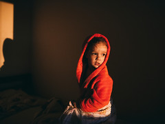 - (mravcolev) Tags: morning light sunset red portrait girl dark evening bed twilight shadows child dusk naturallight gown nightfall 35l canonef35mmf14lusm canoneos5dmarkii 5d2 5dmkii