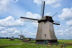Windmills in Holland (Stan de Haas Photography) Tags: holland netherlands windmill horizontal rural wind north scene rotation polder watermill scenics noord schermer schermerhorn standehaas