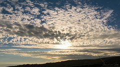 a mackerel sunset sky over the Dorset coast (lunaryuna) Tags: uk england dorset coast jurassiccoast sky clouds cloudscape mackerelclouds cloudformation sunset sundown dusk summer season seasonalwonders lunaryuna