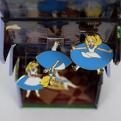 Alice Falling Down the Rabbit Hole Boxed Set - eBay Purchase - Fully Opened - Hanging Up - Full Top View (drj1828) Tags: us disneyland dlr dl60 pin disneypintrading purchase 2016 limitedrelease aliceinwonderland 65th anniversary boxed set falling rabbit hole alice