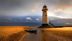 Early Morning in Talacre (johnroberts676) Tags: talacre lighthouse sand seaside sky wales nikon sunrise beach